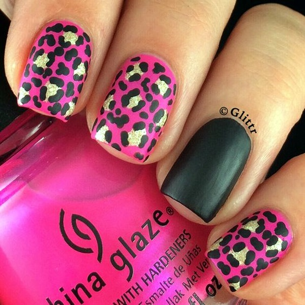 Leopard Prints Nail Art (17)