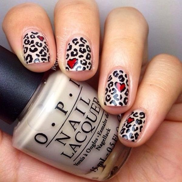 Leopard Prints Nail Art (2)