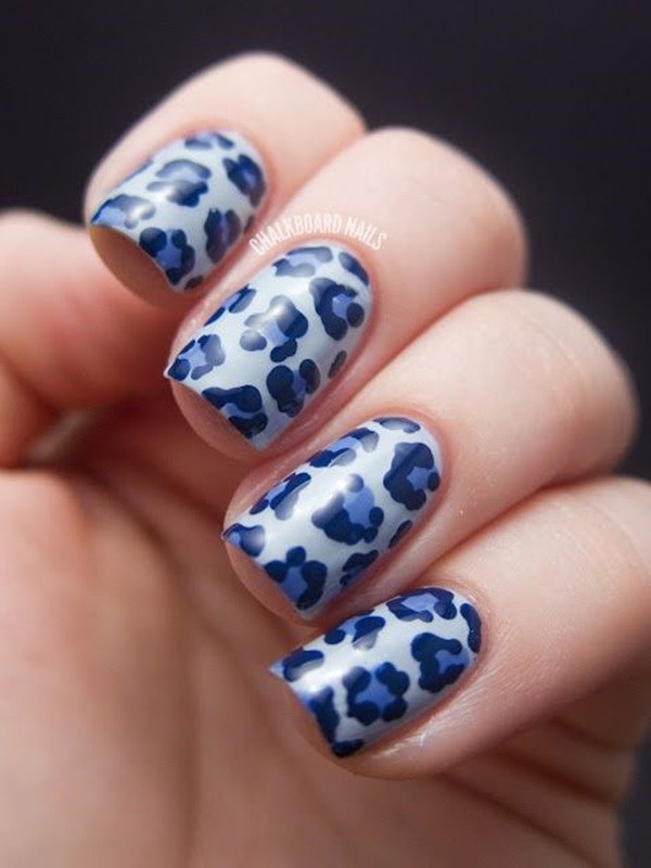 Leopard Prints Nail Art (2)