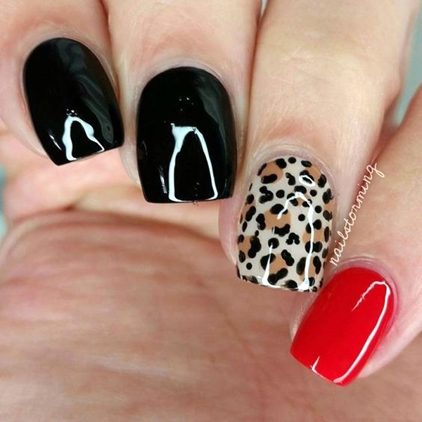 Leopard Prints Nail Art (25)