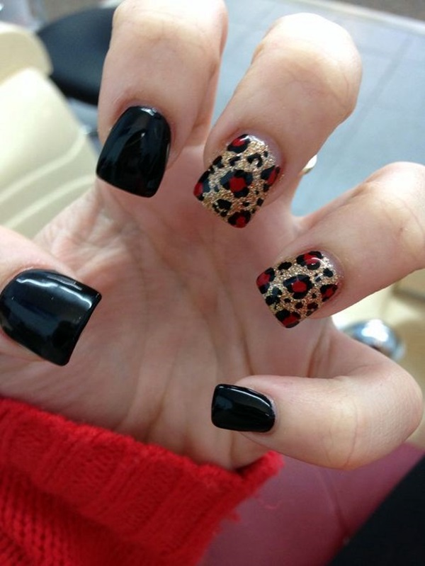 Leopard Prints Nail Art (26)
