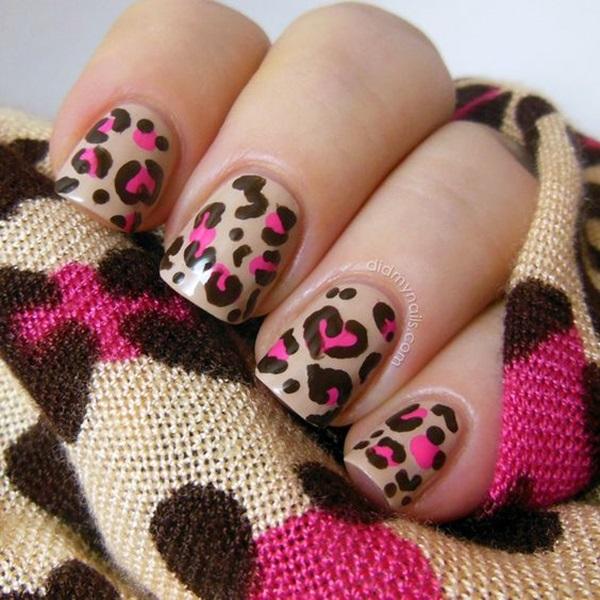 Leopard Prints Nail Art (3)
