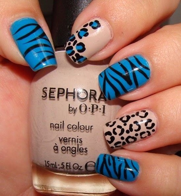 Leopard Prints Nail Art (3)