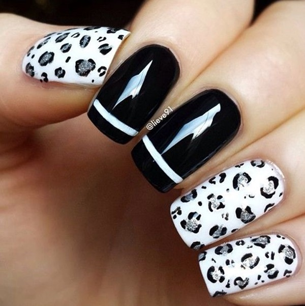 Leopard Prints Nail Art (4)