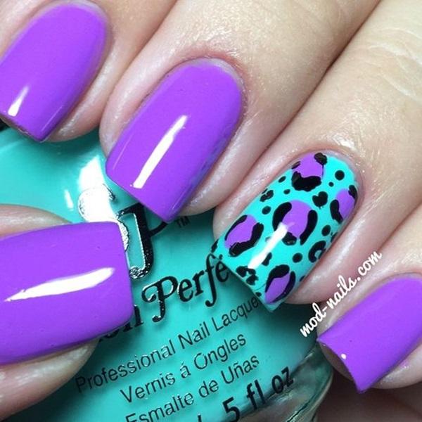 Leopard Prints Nail Art (5)