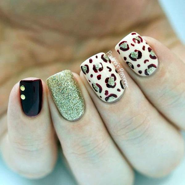 Leopard Prints Nail Art (6)