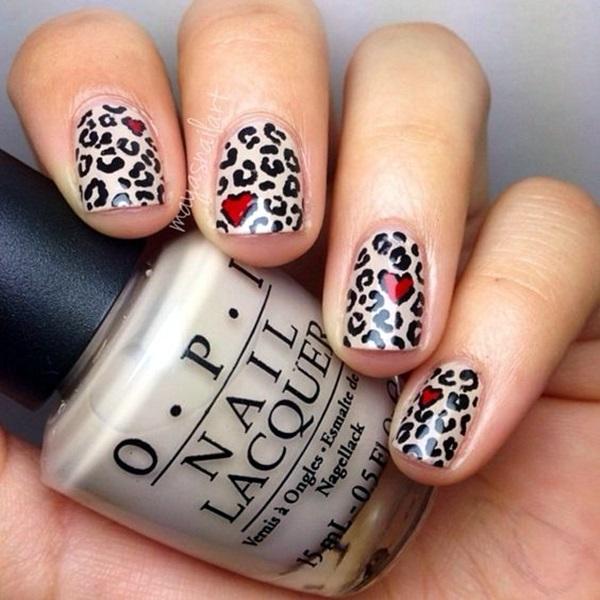 Leopard Prints Nail Art (7)