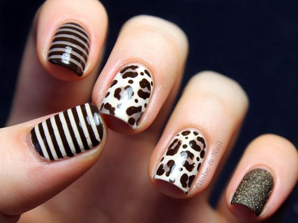 Leopard Prints Nail Art (8)