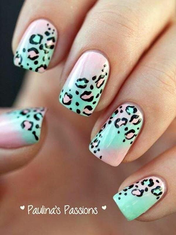 Leopard Prints Nail Art (9)