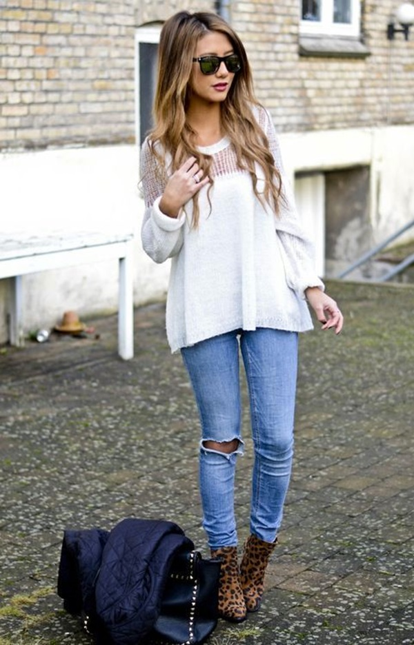 Ripped Jeans Outfit Ideas (1)