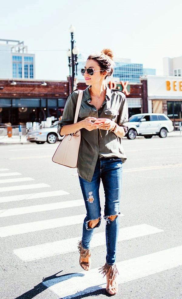 Ripped Jeans Outfit Ideas (2)