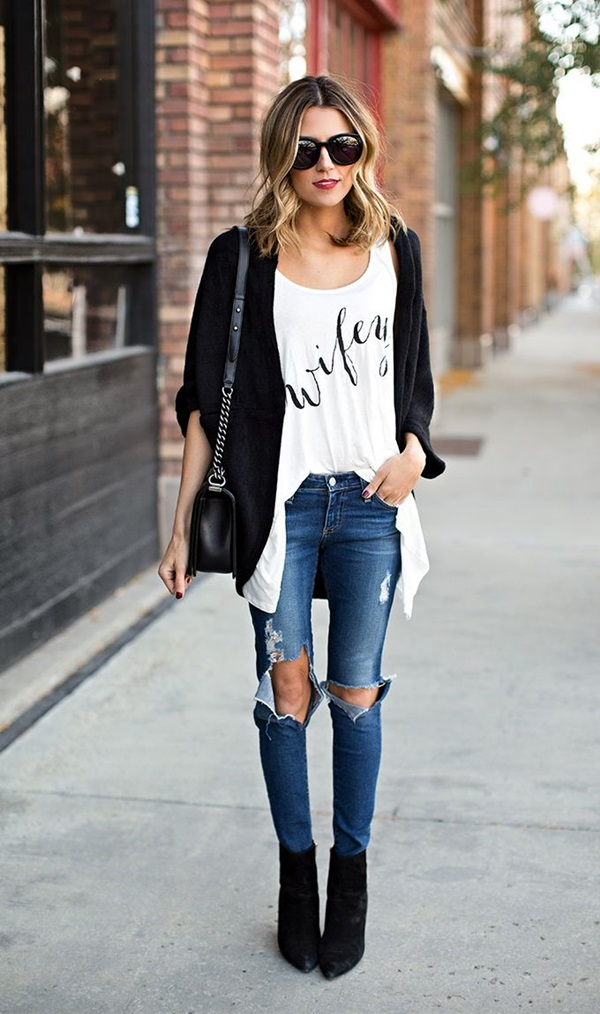 Ripped Jeans Outfit Ideas (3)
