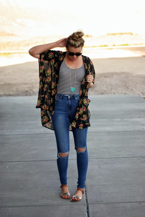 Ripped Jeans Outfit Ideas (5)