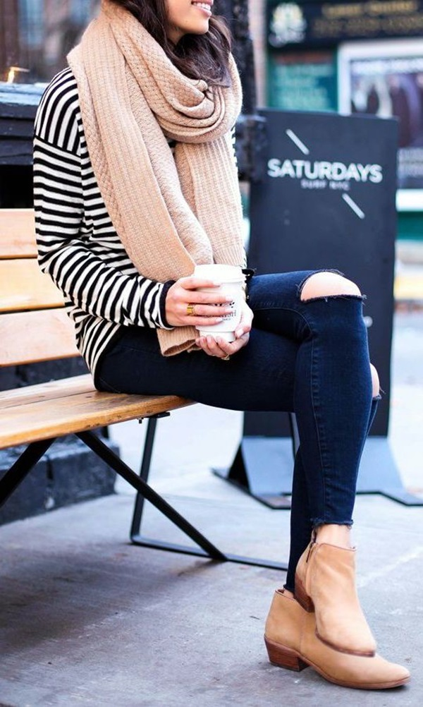 Ripped Jeans Outfit Ideas (9)