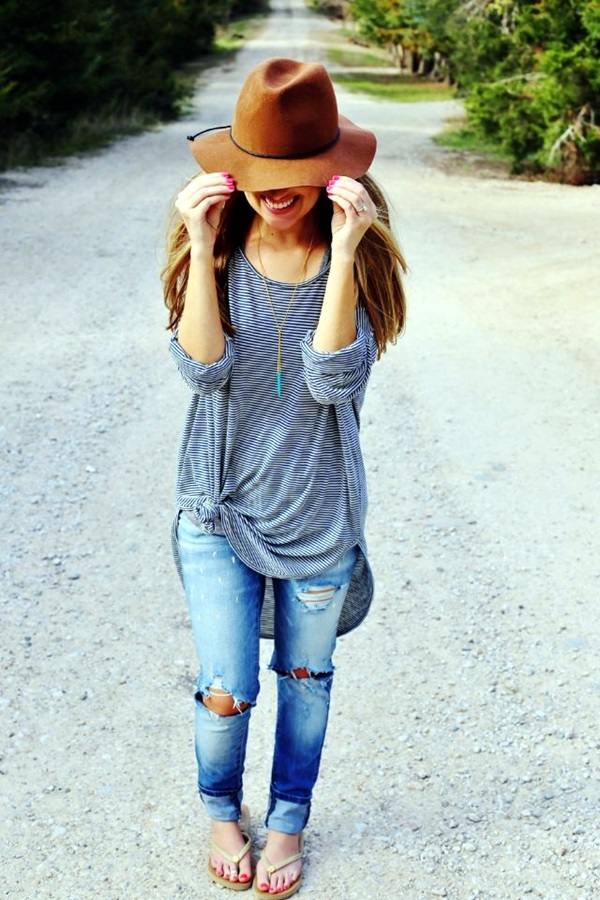 Ripped Jeans outfit ideas (17)