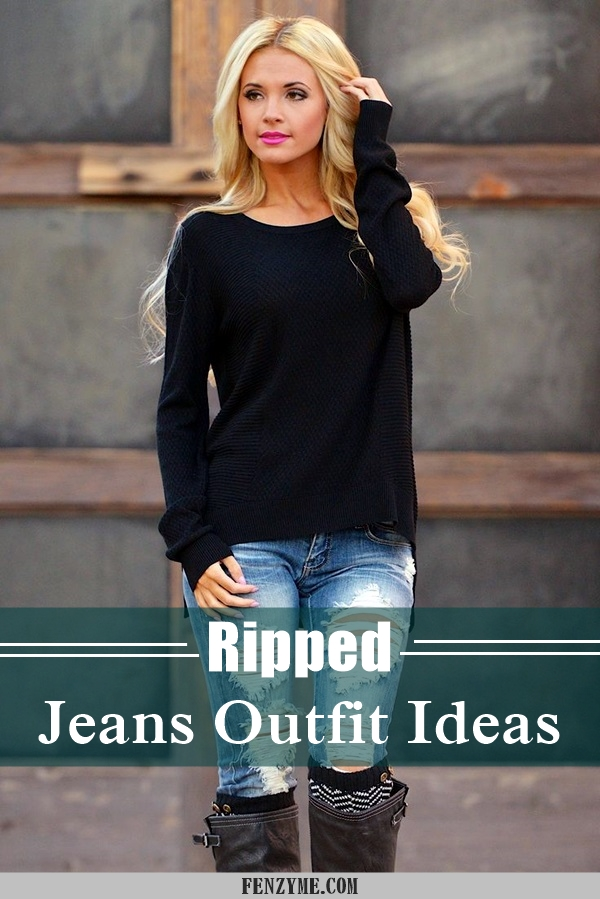 Ripped Jeans outfit ideas (25)