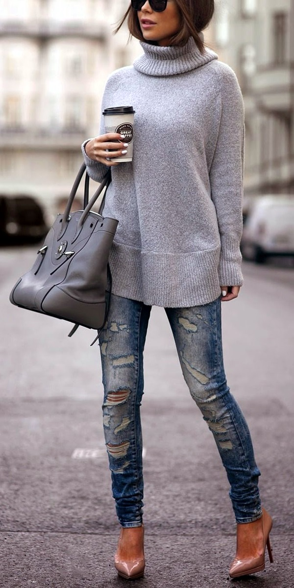 Ripped Jeans outfit ideas (7)