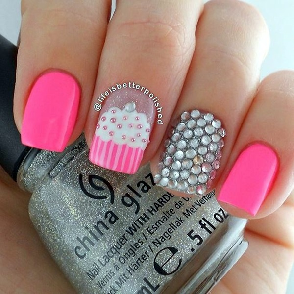Sparkle Nails Design (2)