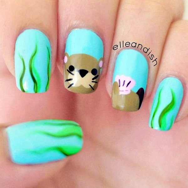 45 Cute Animal Nail Art Prints Thatre Truly Inspirational Fashion