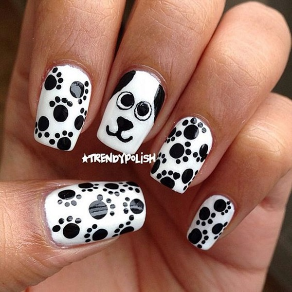 Ehmkay Nails Shy Bunny Easter Nail Art: 45 Cute Animal Nail Art Prints That're Truly Inspirational