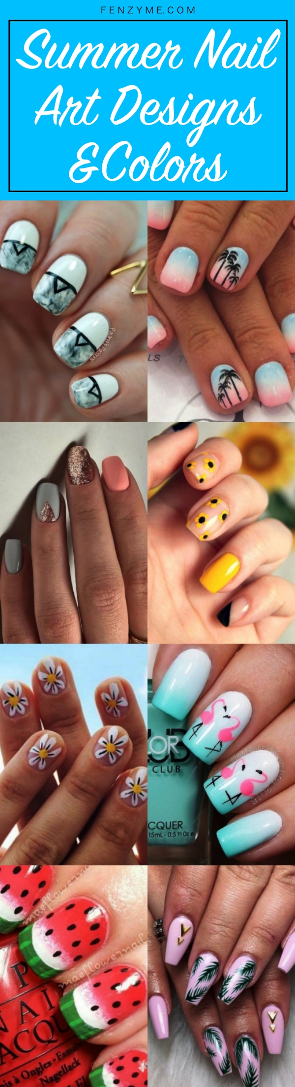 Summer Nail Art Designs and Colors