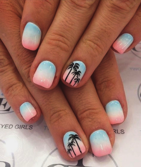 15 Cool Nail Art Designs: 70 Vivid Summer Nail Art Designs And Colors 2017