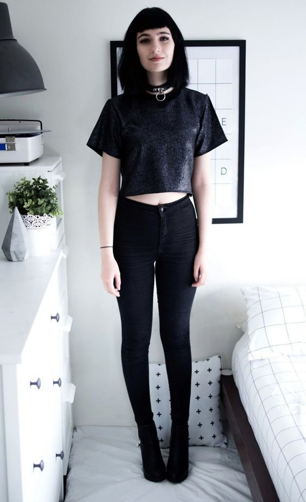 Cute Skinny Black Jeans Outfit (2)