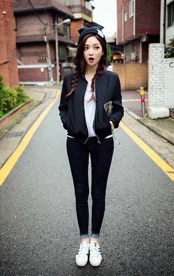 Cute Skinny Black Jeans Outfit (3)