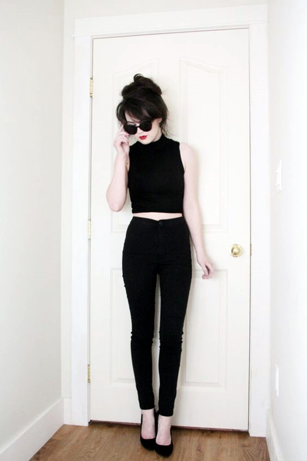 Cute Skinny Black Jeans Outfit (4)