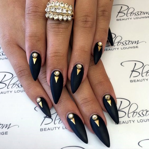 Easy Stiletto Nails Designs And Ideas 1