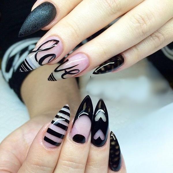 Easy Stiletto Nails Designs and Ideas (1)