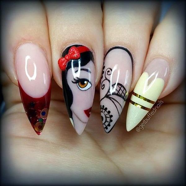 Easy Stiletto Nails Designs and Ideas (14)