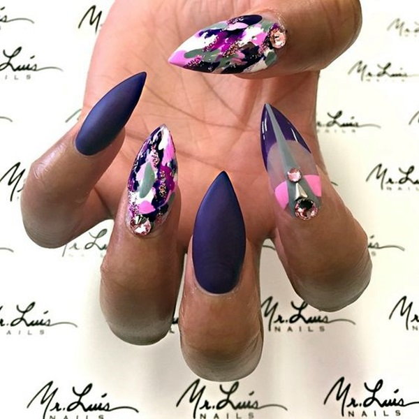 Easy Stiletto Nails Designs and Ideas (17)