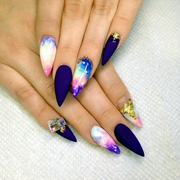 Easy Stiletto Nails Designs and Ideas (18)