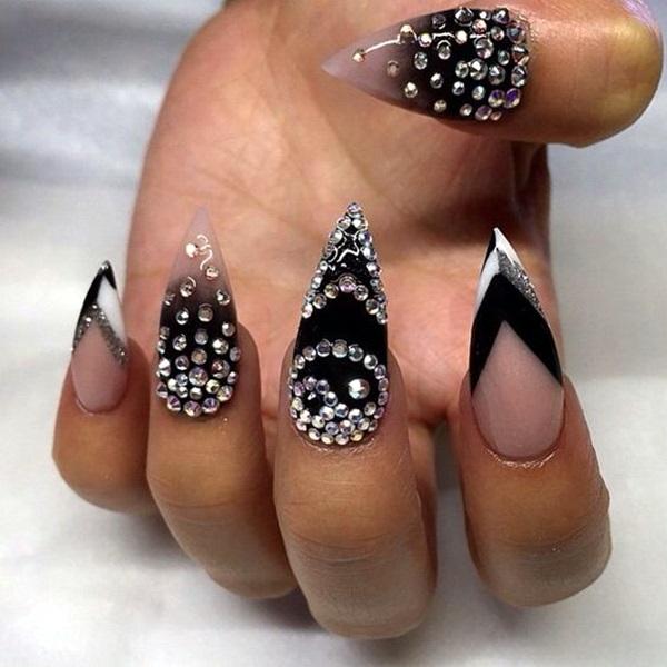 Easy Stiletto Nails Designs and Ideas (4)