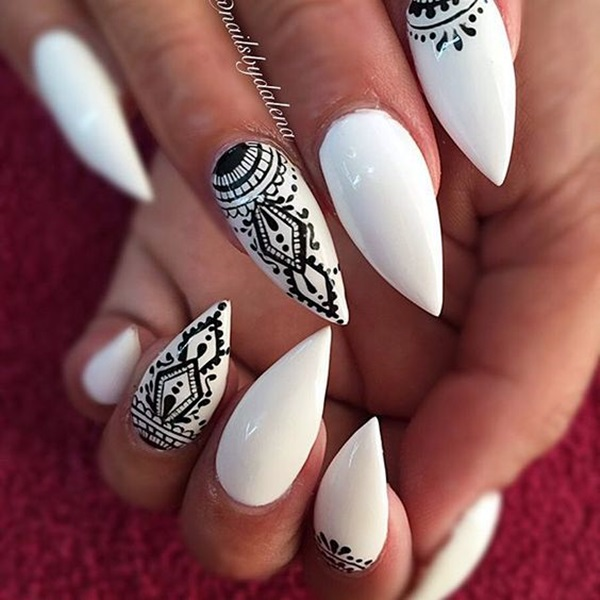 Easy Stiletto Nails Designs and Ideas (6)
