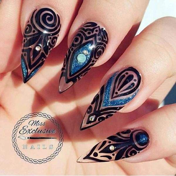 Easy Stiletto Nails Designs and Ideas (7)