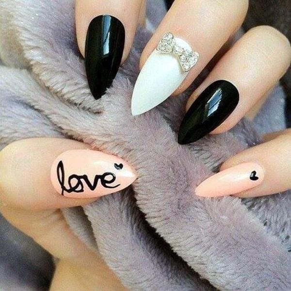 Pointy Almond Nail designs (10)