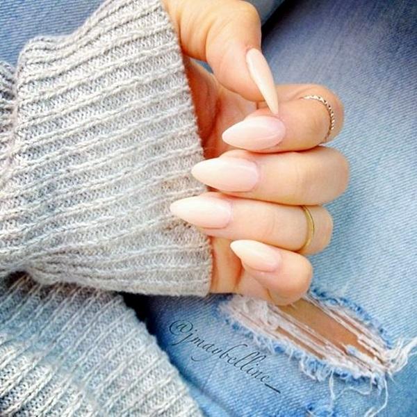 Pointy Almond Nail designs (15)