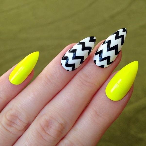 Pointy Almond Nail designs (16)