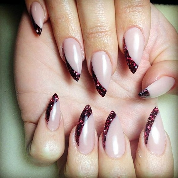 Pointy Almond Nail designs (3)