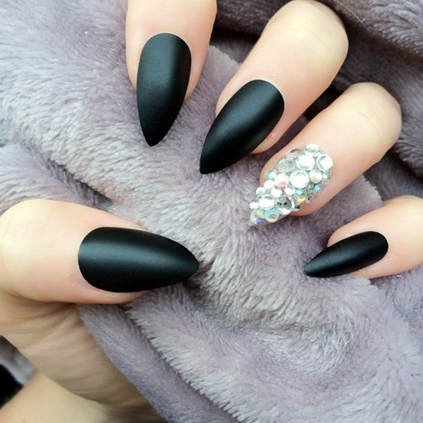 Pointy Almond Nail designs (6)