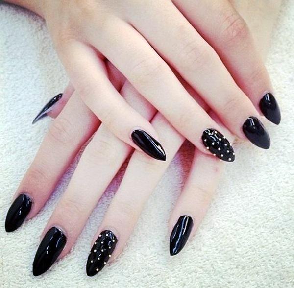 Pointy Almond Nail designs (8)