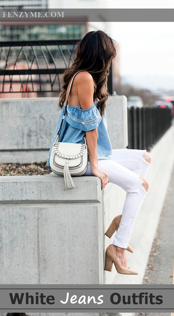 a91a89fc5166 45 Casual White Jeans Outfits for 2016