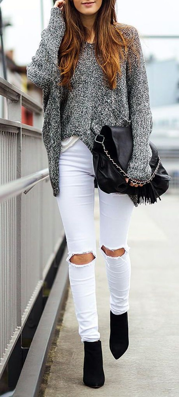 White Jeans Outfits (9)