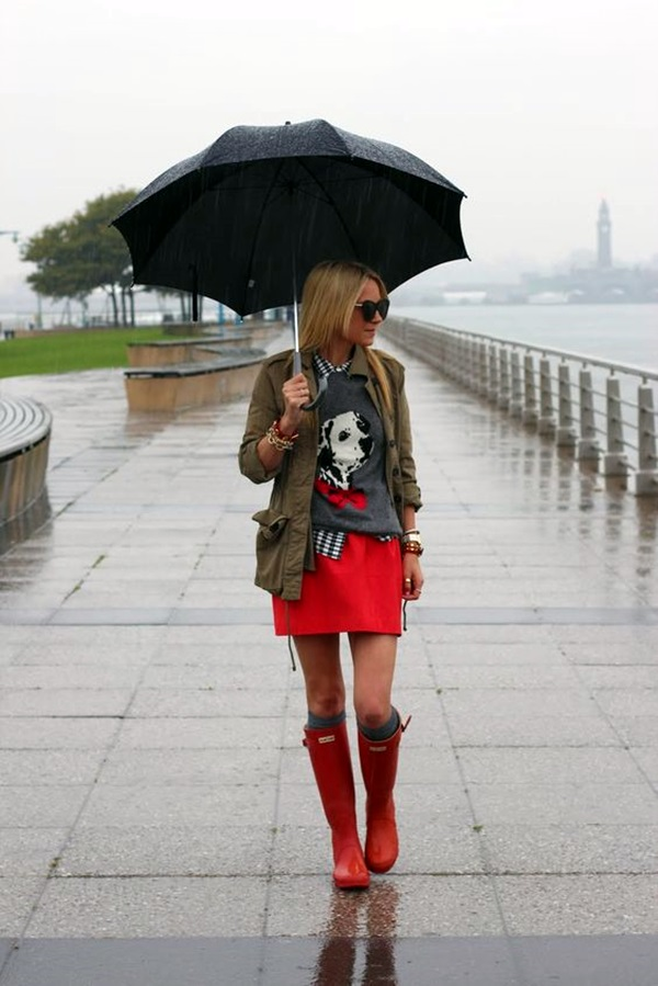 Cute Rainy Day Outfits (2)