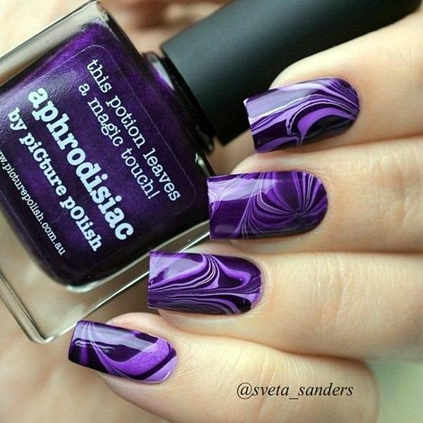 Purple Nail Art Designs (11)