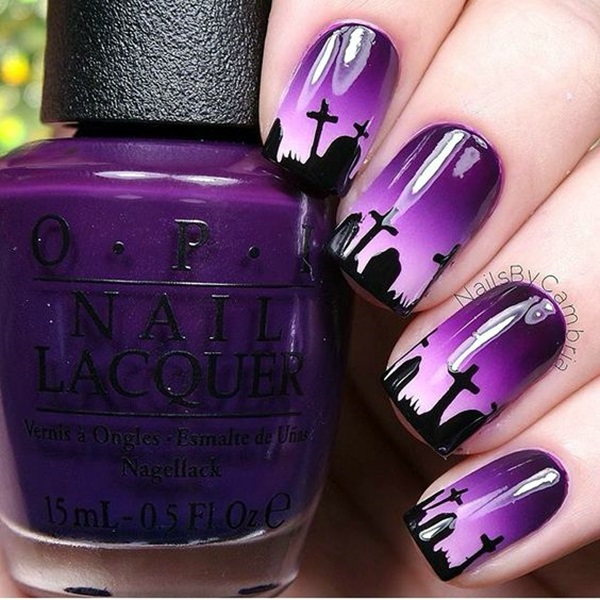 Purple Nail Art Designs (15)
