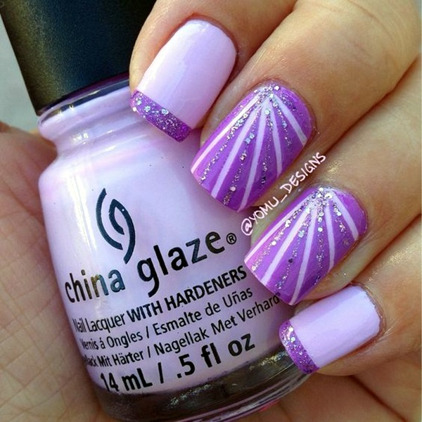Purple Nail Art Designs (22)