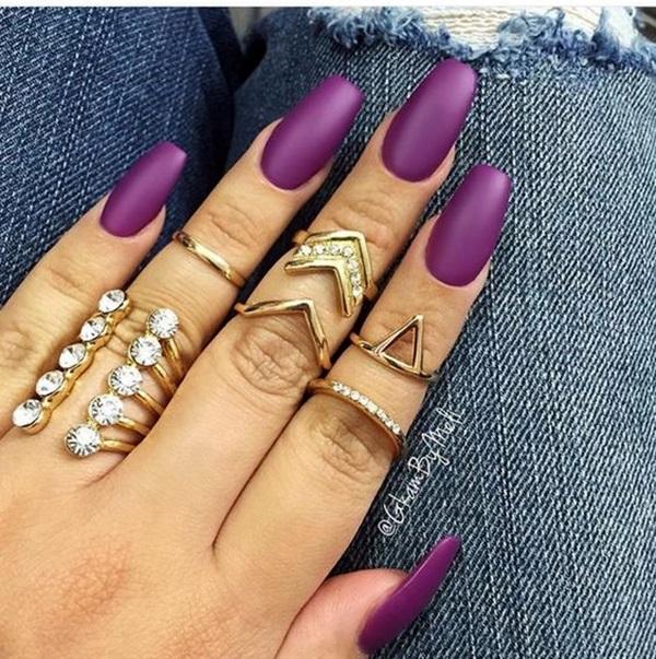 Purple Nail Art Designs (23)